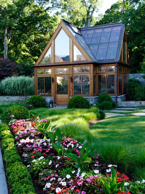 Beautiful greenhouses home design ideas pictures remodel for Home garden greenhouse design