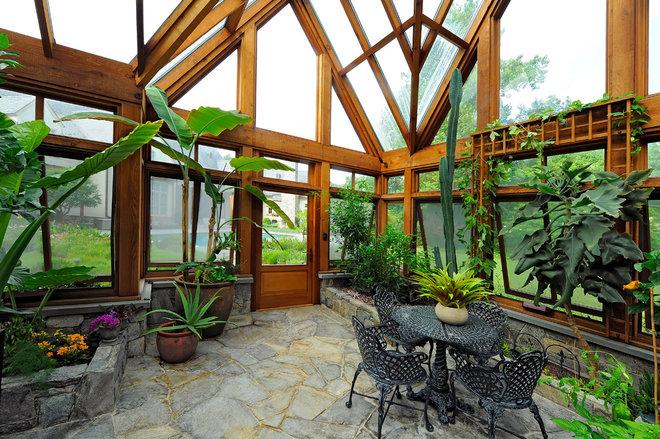 Traditional Porch by SURROUNDS Landscape Architecture + Construction