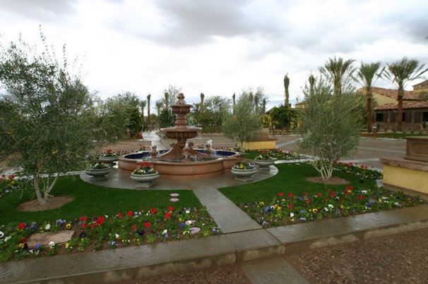 Traditional Landscape by Red Rock Pools and Spas and Red Rock Contractors