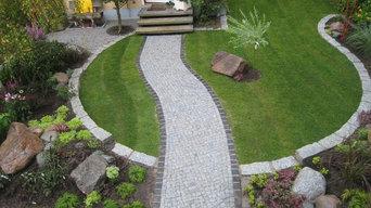 Vorgarten eines Reihenhauses