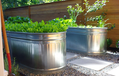 How to Turn a Stock Tank Into a Planter for Edibles and More