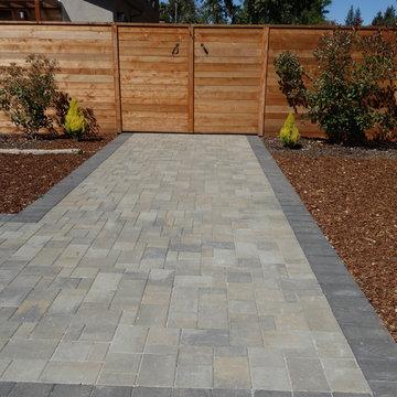Walkway & landscaping
