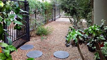Walkway Installation--Round Concrete Pavers