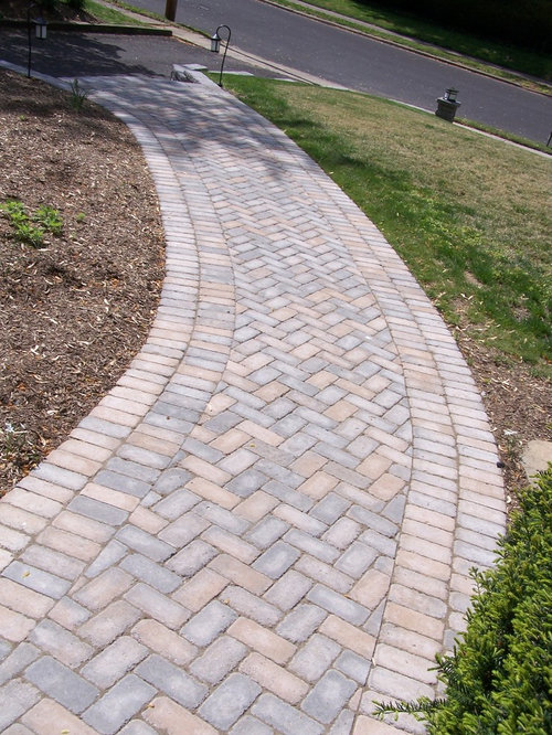 Herringbone Paver Walkway Home Design Ideas Pictures