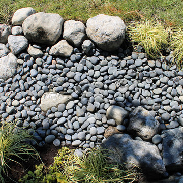 Water and Stone, Dry Riverbed Garden
