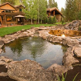 75 Most Popular Medium Sized Garden with a Pond Design ...