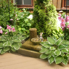 Traditional Landscape water feature/garden