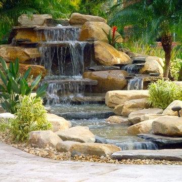 Waterfall backyard