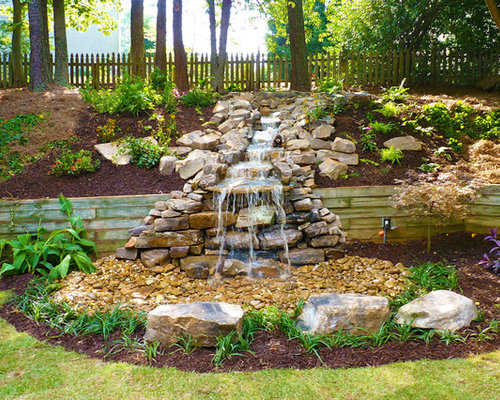 Backyard waterfalls home design ideas pictures remodel for Home garden waterfall design