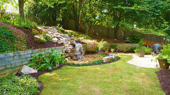Waterfall Oasis by Outdoor Makeover