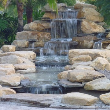 Waterfall pond and stream