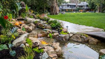 Waterfall Stream Dream Home Pond