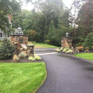 Photo of a medium sized classic front driveway full sun garden in Boston.