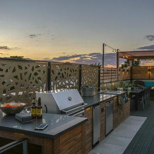 Idee per un giardino boho chic di medie dimensioni e sul tetto