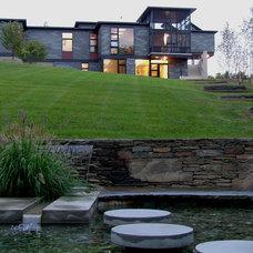 Contemporary Landscape by Greylock Design Associates