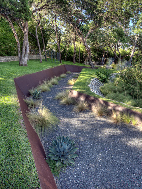 Corten steel retaining wall home design ideas renovations for Bordure jardin acier corten