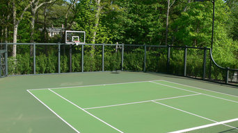 Weston Post Tensioned Concrete Tennis Court