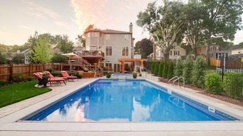 Wheaton Pool, Spa, Pergola and Landscape