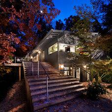 Midcentury Exterior by Louis Cherry, FAIA Architect