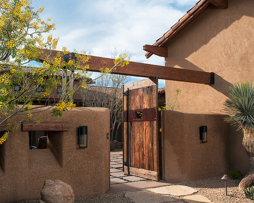 Stucco Courtyard Wall Houzz