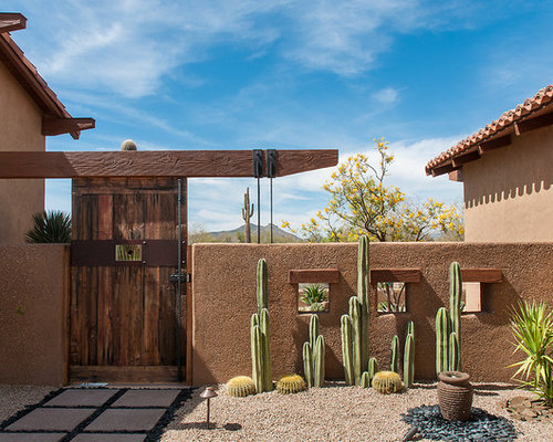 Stucco Garden Walls Home Design Ideas Pictures Remodel