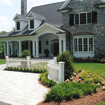 White Picket Fence and Stone Driveway
