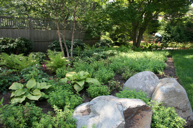 Eclectic Landscape by Woodburn & Company Landscape Architecture, LLC