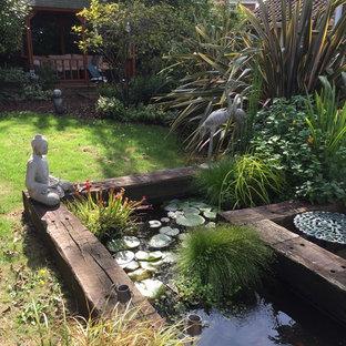 Cette Photo Montre Un Jardin Arrière Montagne De Taille Moyenne Et Lu0027été  Avec Un