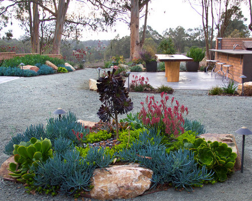 Inspiration For A Contemporary Landscaping In San Luis Obispo With Gravel.