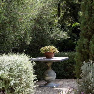 Photo of a traditional backyard gravel formal garden in Los Angeles.