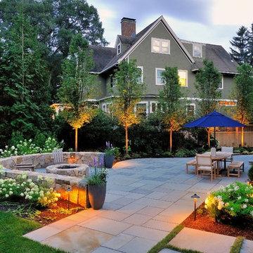 Winchester Massachusetts backyard renovation