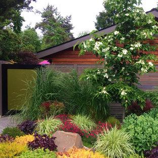 Moderner Vorgarten im Frühling mit direkter Sonneneinstrahlung in Seattle