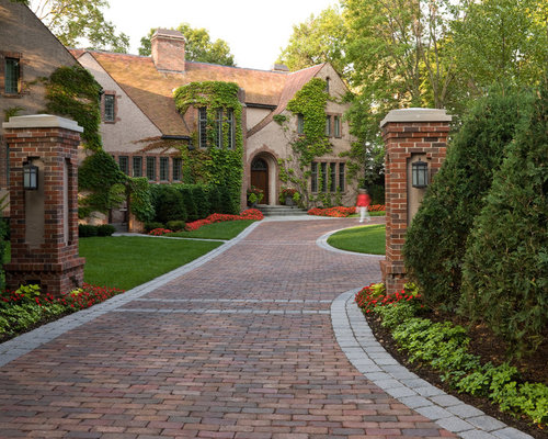 Home Driveway Design Ideas: Brick Driveway Home Design Ideas, Pictures, Remodel And Decor