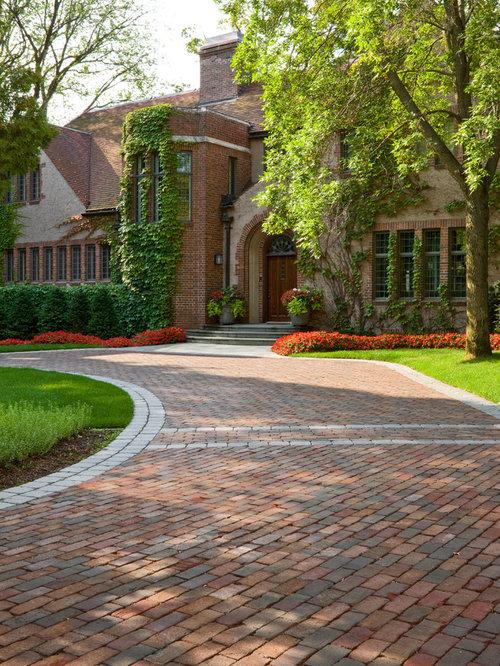 Driveway Design Ideas, Renovations & Photos With Brick Pavers