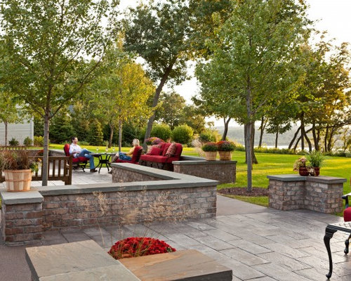 Exceptional Design Ideas For A Traditional Backyard Stone Landscaping In Minneapolis  For Fall.