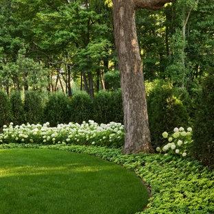 Schattiger Klassischer Garten hinter dem Haus in Minneapolis