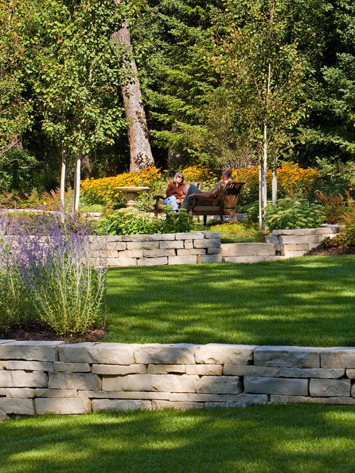 Tiered Retaining Wall Home Design Ideas Pictures Remodel