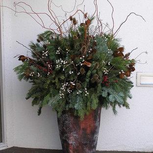 Ispirazione per un giardino tradizionale in inverno