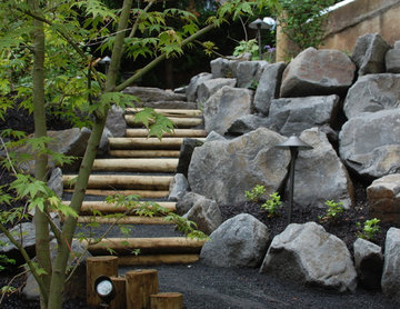 Wood and Stone Steps