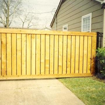 Wood Fence and Gates