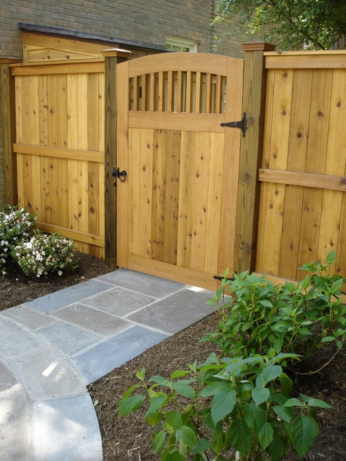 Wooden garden gates houzz for Garden gate designs wood