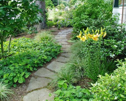 Fotos de jardines dise os de caminos de jard n r sticos - Jardin rustico fotos ...