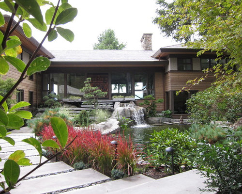 This Is An Example Of A Contemporary Landscaping In Vancouver With A  Fountain. Part 77