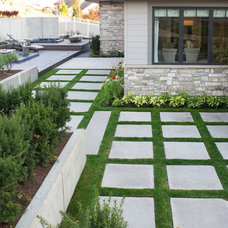 Contemporary Landscape by Platinum Landscape LLC