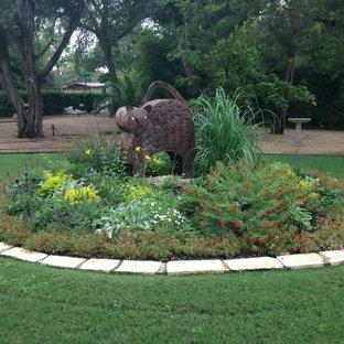 Foto på en eklektisk trädgård