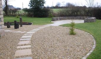 Yellow limestone paving