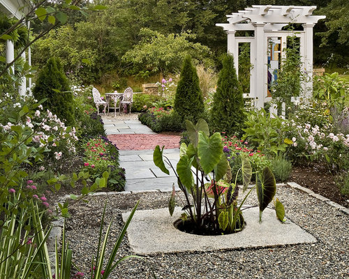 Landscaping Stones Portland Maine : Landscape in portland maine with a water feature and natural stone