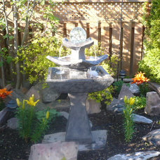 Asian Landscape Zen fountain garden