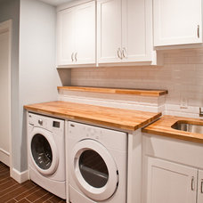 traditional laundry room by Modern Craft Construction, LLC
