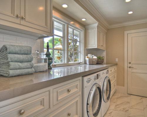 Porcelain Tile Mocha Matte Laundry Room Design Ideas